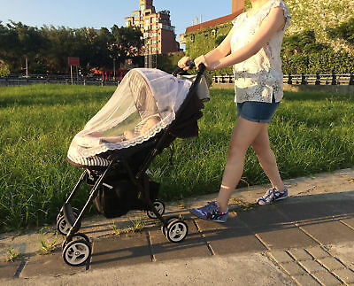 Universal Lace Safe Baby Carriage Insect Mosquito Net Baby Stroller Cradle Bed K
