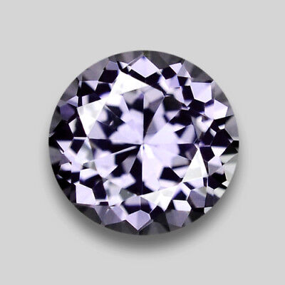 0.94Cts Round Portugese Cut Natural Lavender Purple Spinel Video In Description