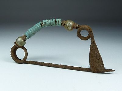 Large Ancient Greek Silver & Bronze Bow Brooch 2Nd Bc