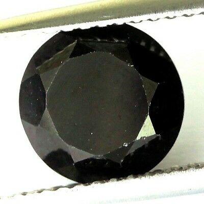 #2.38 cts. 8.3 x 4.5 mm.UNHEATED NATURAL BLACK ONYX ROUND INDIA