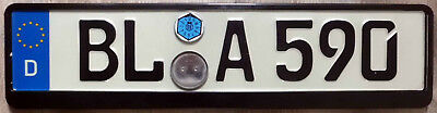 BL German European  License PLATE - Frame included  👍👍 ! EC  Germany  Nice !