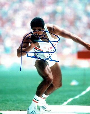 Daley THOMPSON Signed 10x8 Autograph Photo Decathlete Olympic Gold AFTAL COA