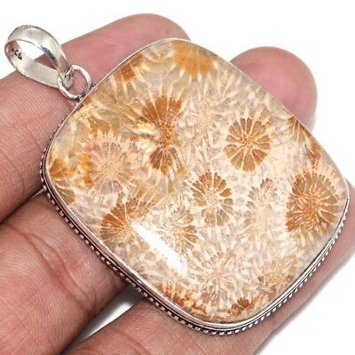R16552 Extra Large Fossil Coral Pendant 2.4""