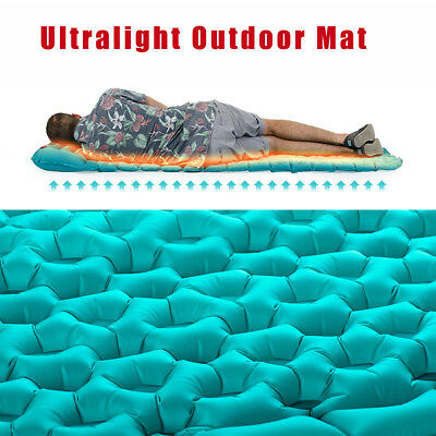 Ultralight Air Inflatable Mat Outdoor Tent Sleeping Pad Camping Pillow Mattress