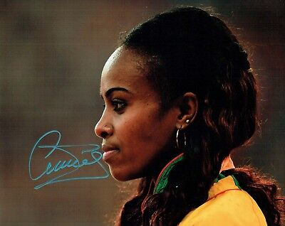 Genzebe DIBABA Autograph 10x8 Signed Photo AFTAL COA Gold Medal Winner Olympics