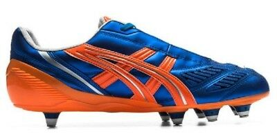 Mens asics Blue Tigreor ST Screw In Studs Rugby Boots Shoes Size UK 7.5