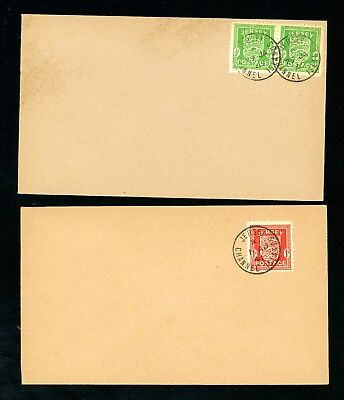 Jersey  WWII  Occupation Arms  Set  2 Covers     (Au822)