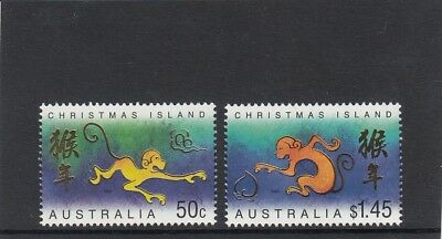 CHRISTMAS IS  2004  Year of the MONKEY design set of 2 MNH