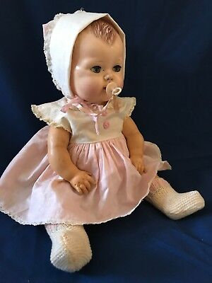1950's American Character TINY TEARS Doll*Original Clothes W/Pacifier #2675644
