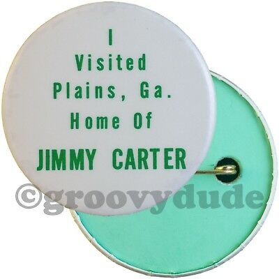 Unusual I Visited Plains, GA Jimmy Carter Home 1976 Political Pin Pinback Button