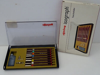 ----------- ROTRING COLLEGE SET ISOGRAPH Tuschefüller 8er Set NEW -------