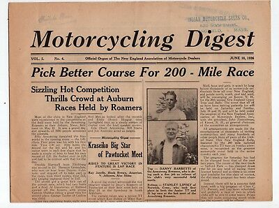 1936 Motorcycling Digest