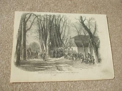 Engravings London News Inspection East Middlesex Militia Well Walk Hampstead