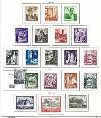 Generalgouvernement stamps 1940 Collection of 20 stamps HIGH VALUE!