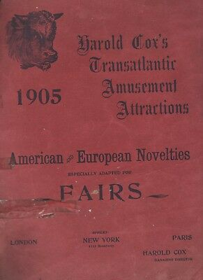 1905 Cox's Amusement Attractions Acrobats, Trapeze Artists, Trained Animals