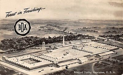 WESTERLY, RI, BRADFORD DYEING ASSO FACTORY OVERVIEW, ARTIST IMAGE c 1930-40's