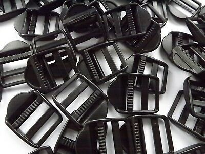 Black Plastic Ladderlock Rucksack Type Buckles for 25mm Webbing 2 - 100