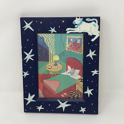 vintage Goodnight Moon Bunny in Bed Picture Art Nursery decoration