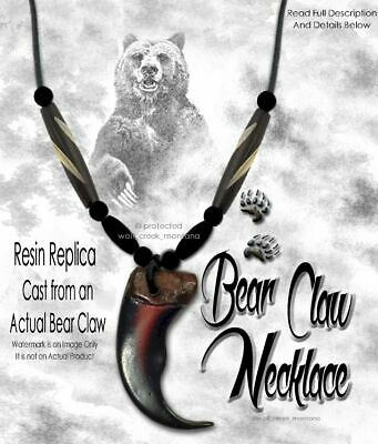 Rugged Grizzly Bear Claw Necklace Wild Mountain Man Rendezvous - Free Ship  #g5'