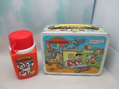 Vintage Hanna-Barbera Metal Lunch Box W/ Thermos by King-Seeley