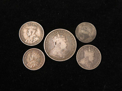 Canada silver coins 1891 to 1919 x5