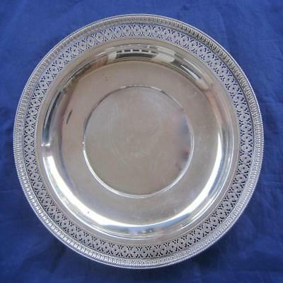 "Watson Sterling Silver Pierced Reticulated 9"" Plate Dish Hallmarked 177gms L16"