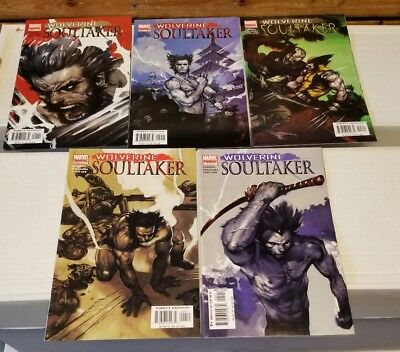 Marvel comics Wolverine Soultaker Complete set #1 2 3 4 5 VF/NM