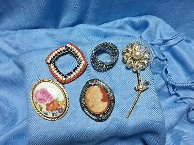 Vintage PINS BROOCHES LOT Of 5 Lovely (1) France