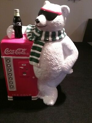 Coca cola polar bear cookie jar