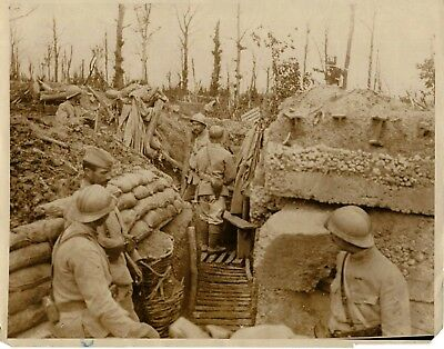 Vintage WW1 Press Photo~Allied Line~Western Front~First Line Defenses in France
