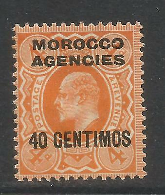 Great Britain 1907-10 Morocco King Edward VII 40c on 4p orange (40) MH