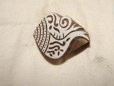 Sheesham Wood Indian Craft, Textile Printing Block, Handcarved, New And Unused