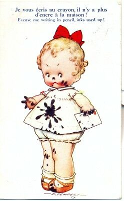 """Carte postale humoristique ancienne : 1935 collection """"Tempest Kiddy"""" N° 234"""