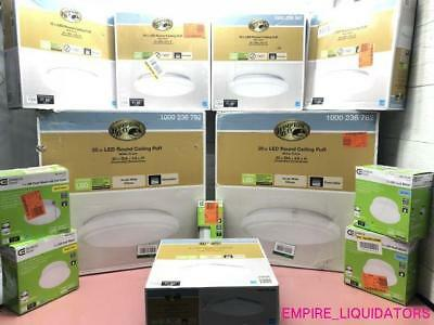 12 Hampton bay & Commercial Electric LED Lighting Fixtures in Various Models