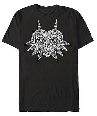 LEGEND OF ZELDA MAJORAS MASK ZEN BLACK T-SHIRT ADULT XL BRAND NEW #sjul18-227