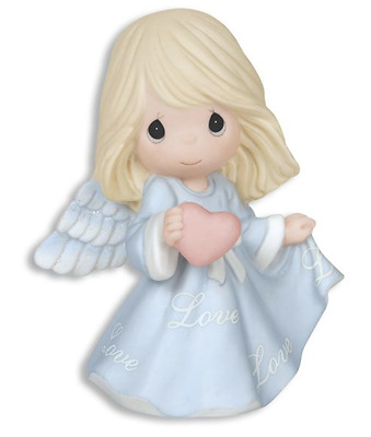 Precious Moments Love Angel Blue w/ Heart NIB Gift Boxed