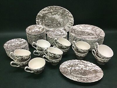 Lot of 68 Pcs. Vintage Royal Mail Fine Staffordshire Ironstone Dinnerware