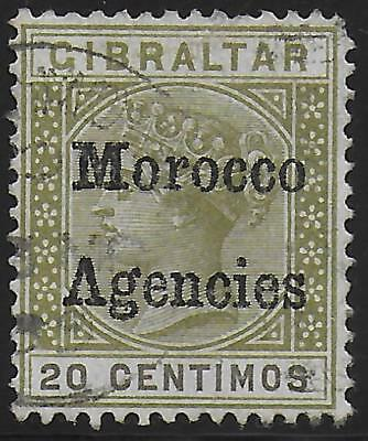 Morocco Agencies stamps 1898 SG 3cb ERROR Inverted V for A CANC VF