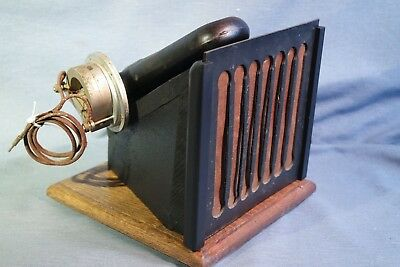 1926 Steinite AC Radio Horn Speaker Mounted For External Use Working Condition