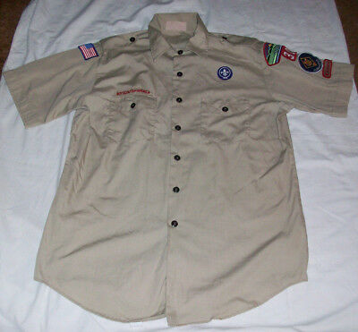 Boy Scout Men's Cubmaster Ss Shirt Large 16-16-1/2 Made In Usa