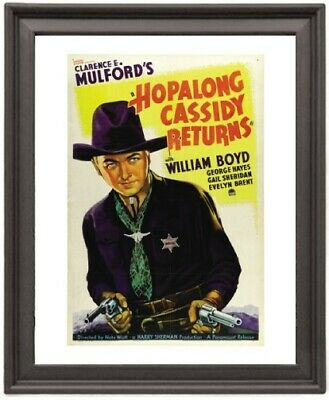 Hopalong Cassidy Returns  - Picture Frame 8x10 inches - Poster - Print - Poster