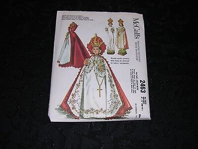 Vintage 1961 Infant of Prague Vestments McCall's Pattern 2463 UNCUT W/TRANSFER