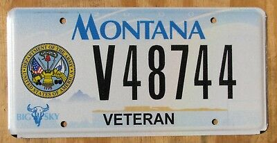 MONTANA US  ARMY VETERAN  license plate  2005   V48744