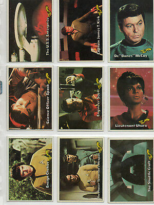 Star Trek - The Original Series 1976 - Complete 88-Card Set  - EXC - Topps 1976