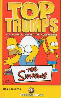 The Simpsons - Complete Top Trumps Set In Case NM Winning Moves