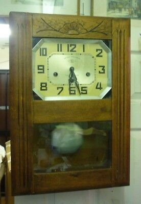 Art Deco 2 Air Westminster Chime Wall Clock Fully Working