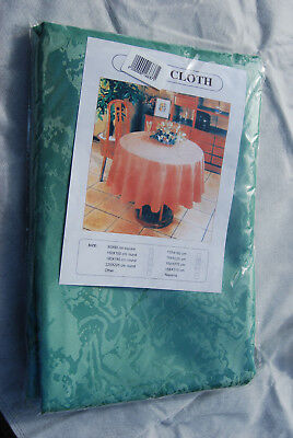Green Rectangle Tablecloth - Damask - size 158x225cm - Excellent Quality