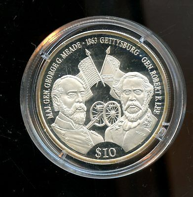 2000 Marshall Islands Gettysburg $10 Commemorative Coin LF501