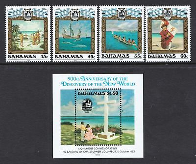 Bahamas 1992 Discovery of America (5th Series) - MNH Set - Cat £14.25 - (219)