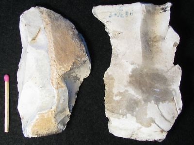 50.000Y.o: 2 Flake Tools Neanderthal Man Flint Stone Age Paleolithic Mousterian